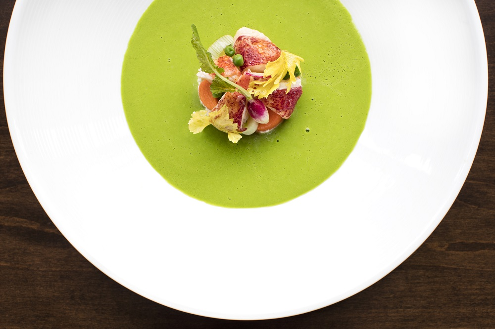 BRABO restaurant Chilled Spring Pea Soup