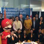 Air India Celebrates Inaugural Flight  from Dulles International to Delhi