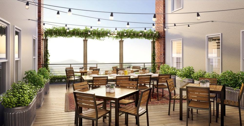 Western Front Hotel Saint Paul open terrace rooftop bar