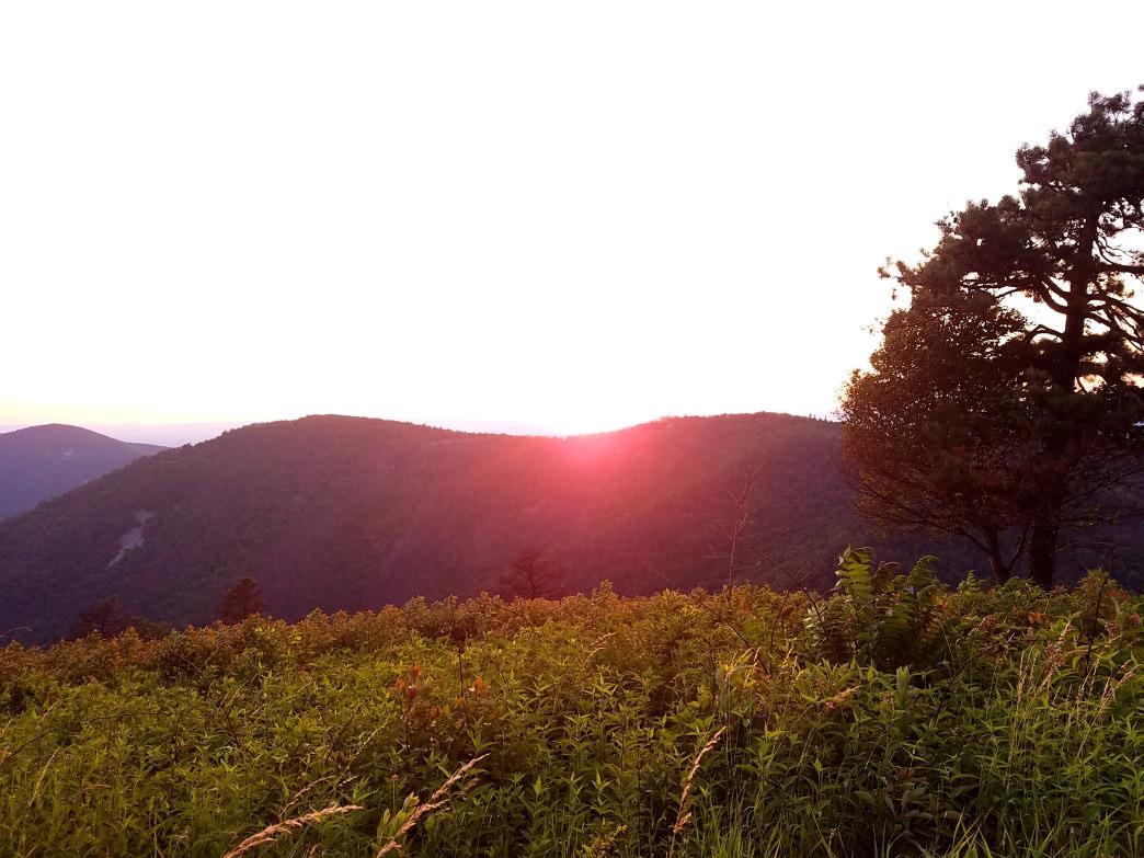 Sunset over Shenandoah National Park. Rob Glover
