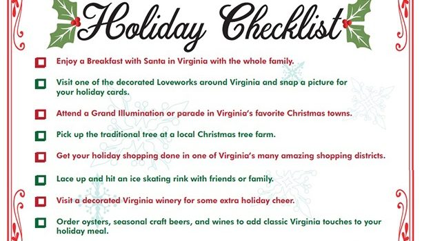 The Ultimate Checklist for an Unforgettable Virginia Holiday