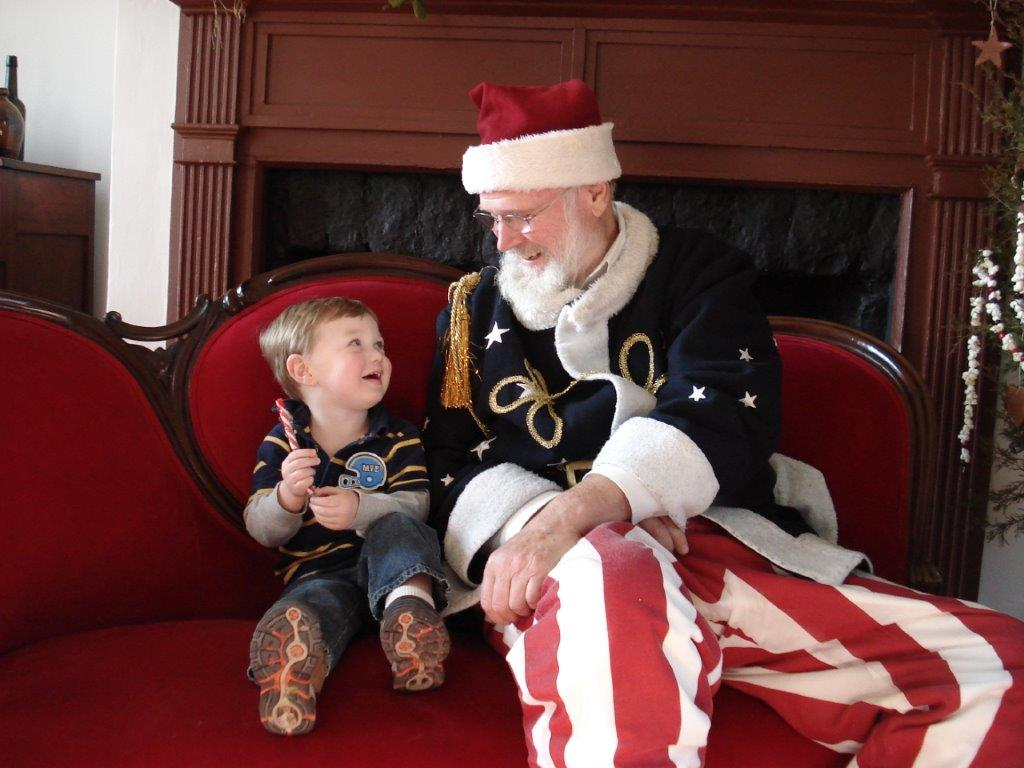 manassas breakfast with historic santa