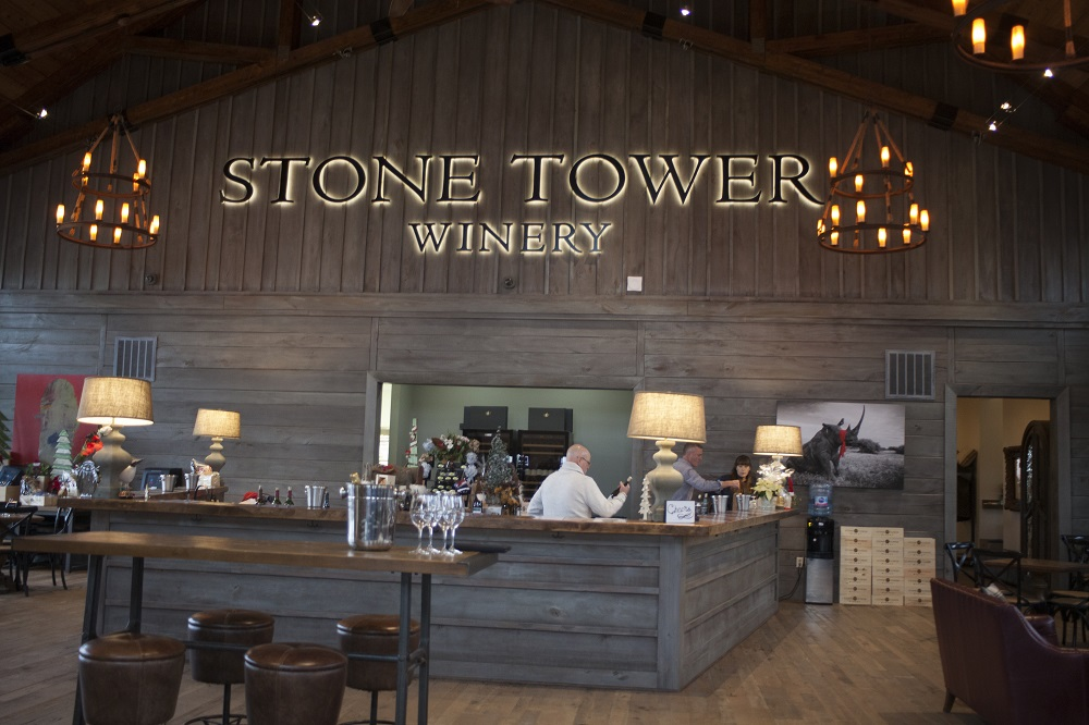 stone tower winery tasting room