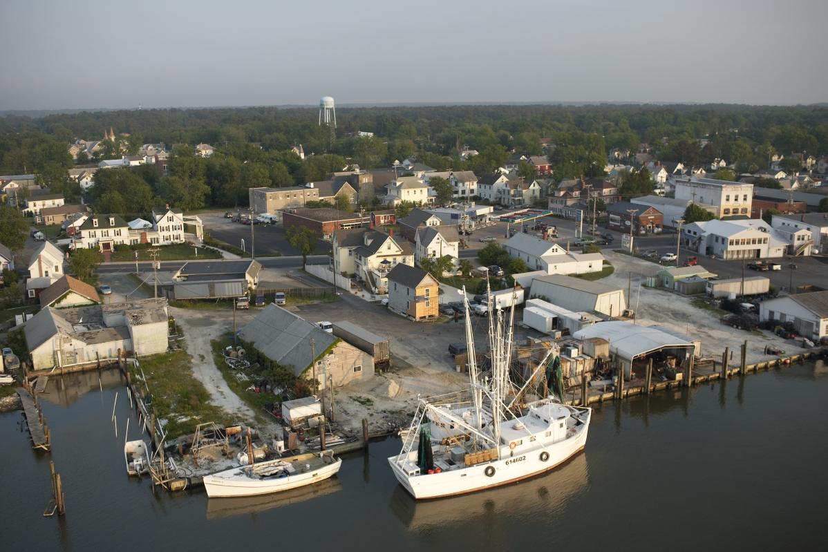 Aerial of Chincoteague