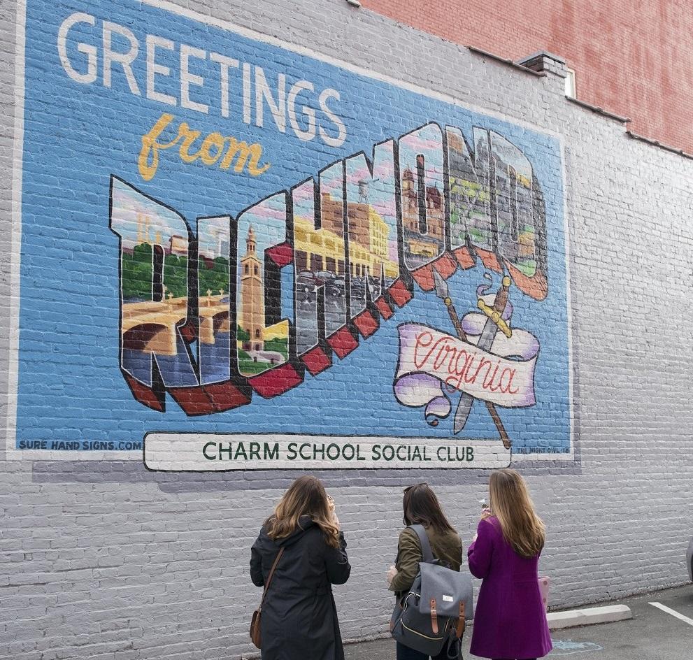 richmond charm school mural
