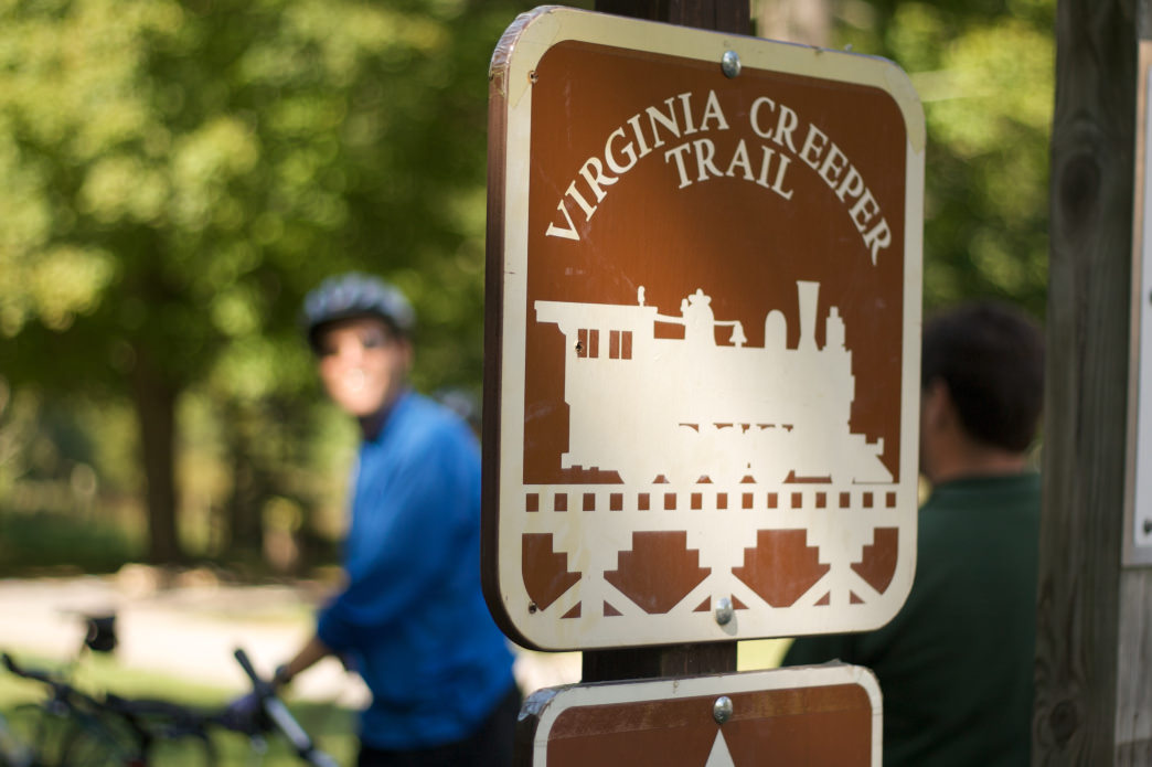 Rent bikes to explore the Virginia Creeper Trail.