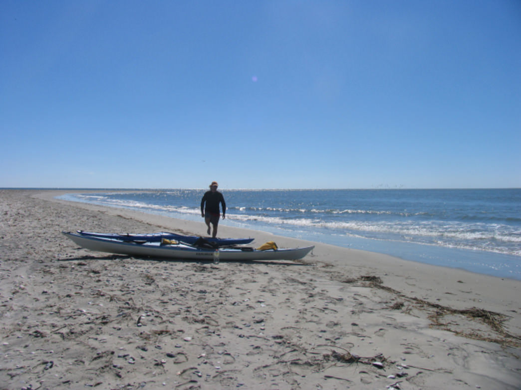 Ocean kayaks on Virginia barrier island
