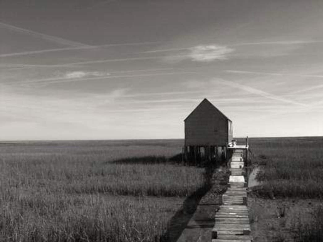 "The entire Atlantic shoreline of the Virginia Eastern Shore was once dotted with ""watch houses"" where oyster men stayed to watch over their valuable oyster fields. Few remain.   SouthEast Expeditions"